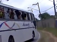 Sexing On The Brazilian Orgy Bus