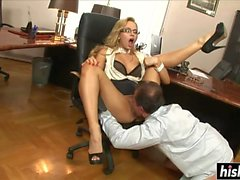 Sexy secretary gets her ass banged