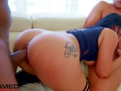 Rammed - badass slut Katrina Jade used by 2 big dicks