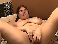 Fat Woman Masturbating