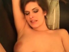 Horny brunette milf craves for big cash and big cocks
