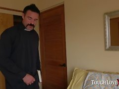 TOUGHLOVEX Father Karl demolishes Ella Knox's holes