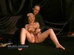 Moustrapped Pussy of tied slave Donna