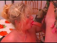 Mature Russian Olga fucks with a guy
