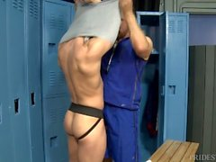 Coach Max Sargent Helps Young Athlete with Jock Strap