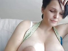 Girl With Short Hair and Huge Tits On Webcam