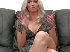 Enthusiastic Blonde With Fake Tits Can't Stop Cumming At This Job Interview