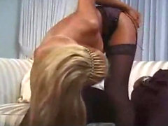 Blonde Aline in hot big black cock interracial