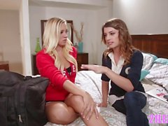 Tiny lesbo nerd vs cheerleader - WebYoung