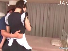 Japa maid gets her cunt fingered