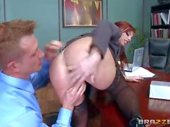 Office assed slut Brittany Amber loves anal fuck