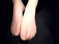 A nylon and foot fetish