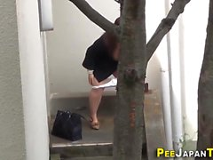 Fetish asian teen peeing