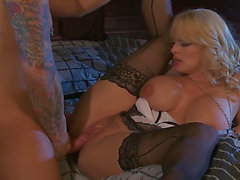 Stormy Daniels has fire in her eyes as that babe acquires her mouth drilled by her gangbang buddy