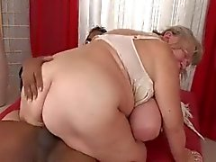 Big Tit BBW Granny Takes Dark Meat