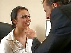 Office whore Tiffany Taylor is fucked hard on the office floor by her horny boss