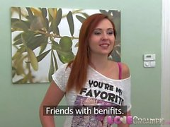 Love Creampie Naughty French redhead talked into hardcore casting video