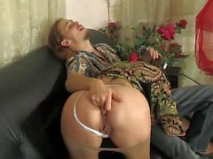 Mature Russian Emily fucks in the ass