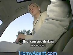 HornyAgent Blonde Ex-Girlfriend Rides my Cock in my Car