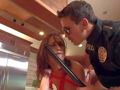 Policeman uses Toys to fuck hot Kristina Rose