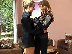 Glam lesbians pissing on each other