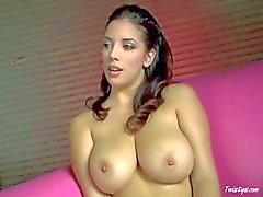 Stunning Jelena Jansen teases with her enormous unreal knockers