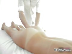 Sensual brunette girl gets a hot massage part3