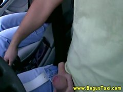 European girl makes an amateur sextape for a free taxi ride