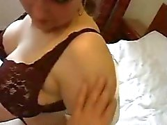 Maid with huge tits enjoying the attention of a customer