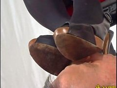 Italian Mistress Shoe Licking