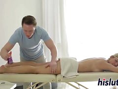 Luna gets nailed after a massage
